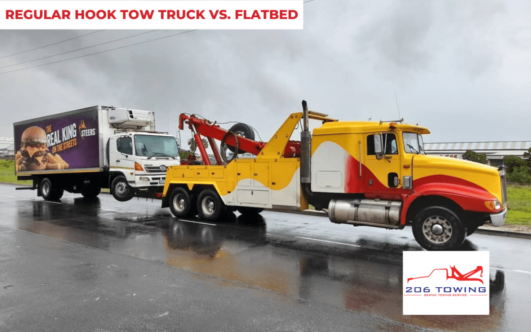 Regular Hook Tow Truck Vs. Flatbed: Which One Should You Call?